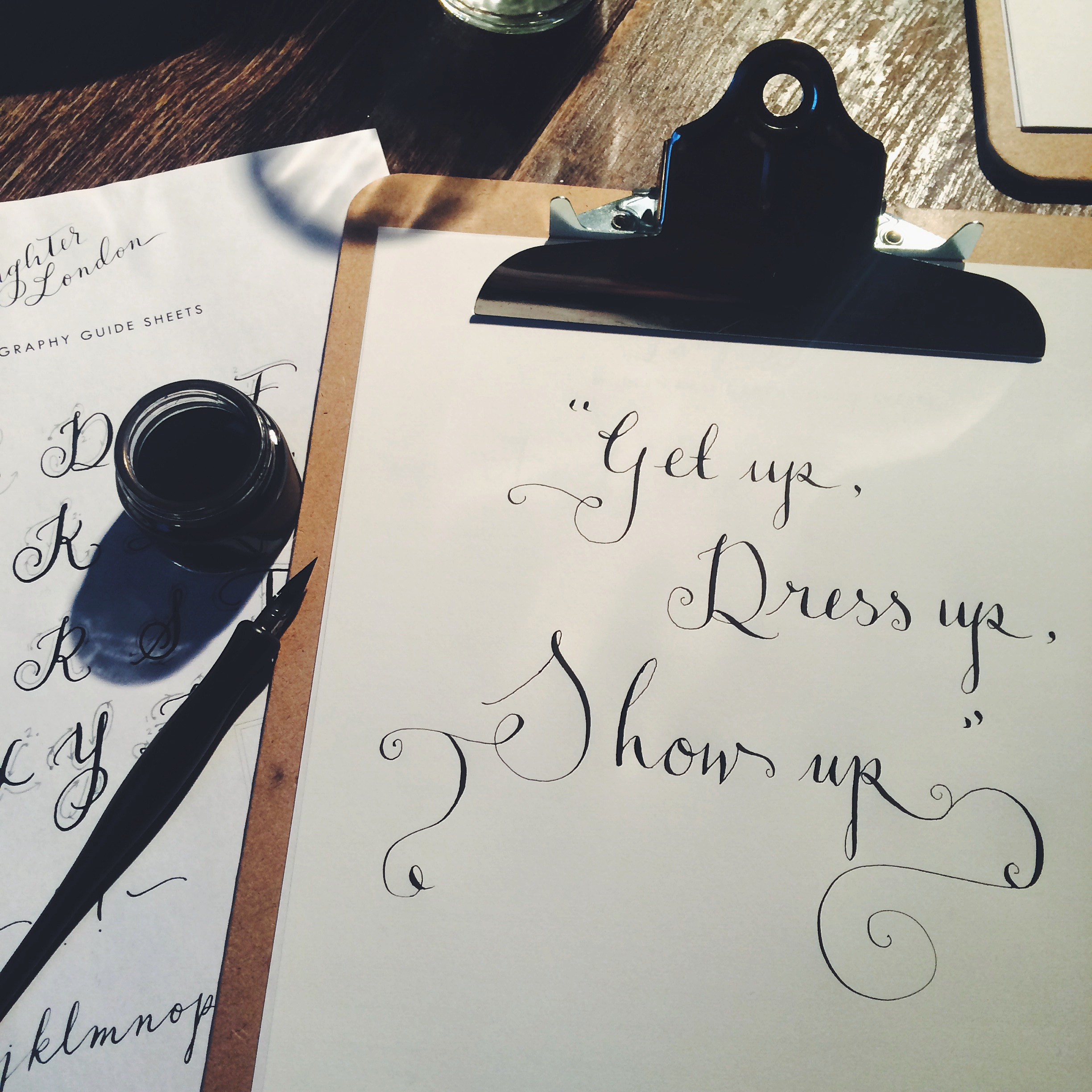 Modern Calligraphy Workshop With Quill London